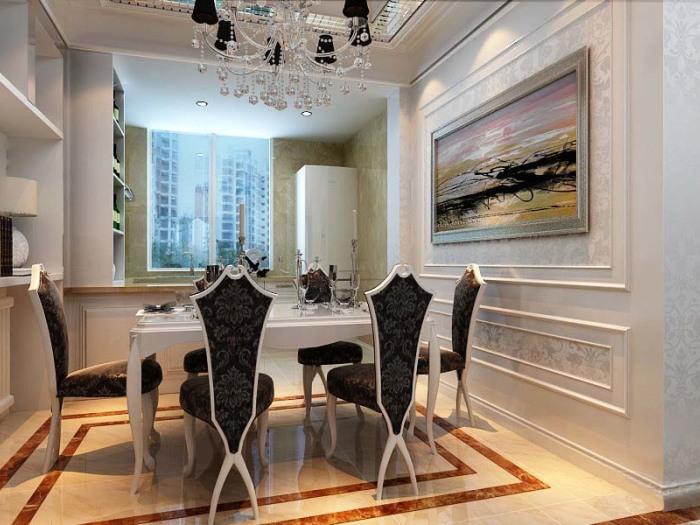 新贵主义风格-160平米三居室-装修样板间