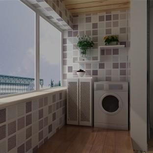 地中海风格一居室阳台酒柜装修图片