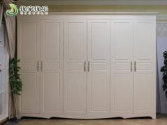 优家优乐618韩式田园衣柜白色田园风格衣柜组合整体衣橱六门