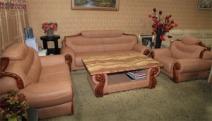 天立 皮沙发 A-82 牛皮 实木图片