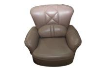天立 牛皮沙发 转椅沙发 浅灰色 牛皮图片