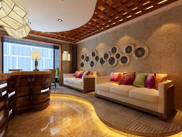东南亚风格-500平米六居室-装修样板间