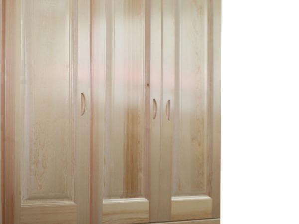 振湘 三门衣柜 造型门 木本色