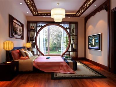 中式古典-137平米四居室装修样板间