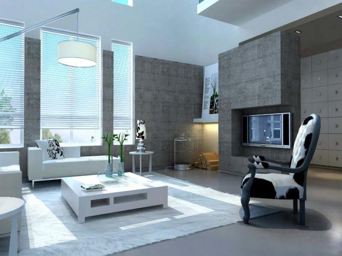 后现代风格-140平米三居室-装修样板间