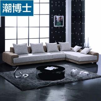 潮博士沙发 转角L型沙发 现代简约 麻布沙发 大客厅布艺沙发