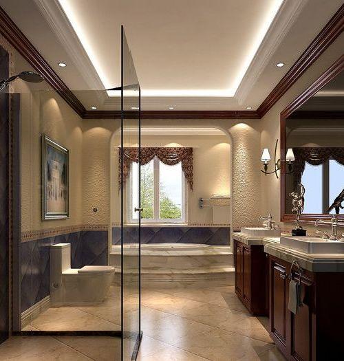 卫生间淋浴房装修效果图 搜房装修效果图 高清图片