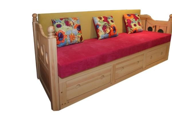 九州方园LK4008 多功能沙发床 实木 本色