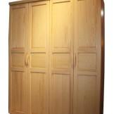 九州方园 LW3005 四门衣柜 实木 本色
