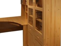 九州方园 LS6002 电脑桌 实木 本色