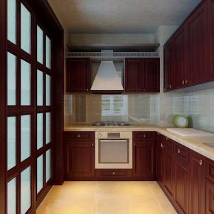 西式古典厨房灯具装修效果图图片