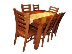 华胜家具 餐桌 六椅HS-051 实木家具 北京