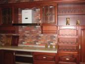 工厂直销整体橱柜、实木樱桃木、门板真正全实木、柜体实木多层板
