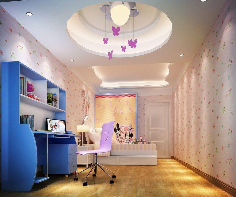 现代简约88平米三居室装修效果图高清图片