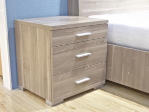 意风家具原装进口爱格板三层抽屉床头柜1336