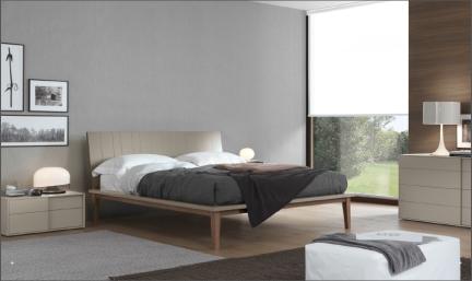 现代简约板式床图片