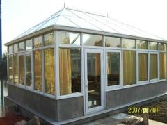 美景阳光80玻璃顶系列异形钢结构别墅露台阳光房