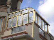 美景阳光弧形顶系列别墅露台花园玻璃顶阳光房德高瓦阳光屋图片
