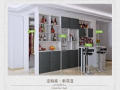 WY1302全套客厅设计:洒柜,入户柜,收纳柜,衣柜