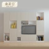 索菲亚 米拉波系列浅色布纹现代简约组合式电视柜 柜门图片