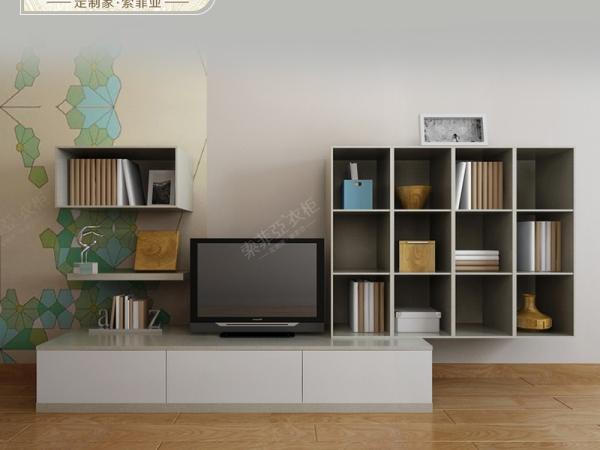 索菲亚 米拉波系列浮雕白色现代简约组合式电视柜 柜门