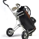 黑色的高尔夫球车仿旧铁艺模型,创意红酒架/酒托