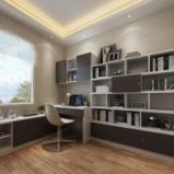 索菲亚 法国风情经典书房系列书柜电脑桌组合 全屋定制图片