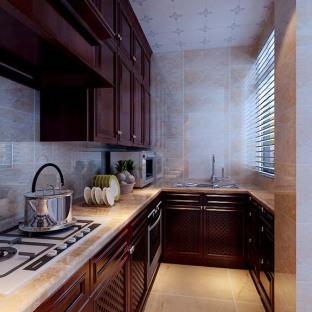 西式古典四居室厨房装修效果图