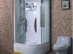 康利达整体淋浴房K-9601白色90×90×208cm扇形