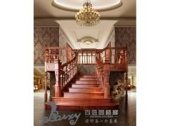 洛可可风格别墅实木折梯
