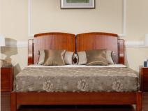 宜华家居现代简约卧室家具 实木1.8米双人床头 木韵H002图片