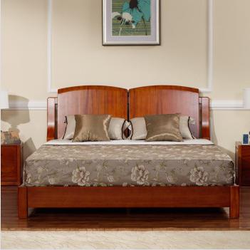 宜华家居现代简约卧室家具 实木1.8米双人床头 木韵H002