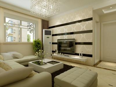 现代简约-92平米三居室装修样板间