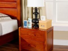 宜华家居现代简约 卧室家具 实木床头柜 双抽屉 木韵H002