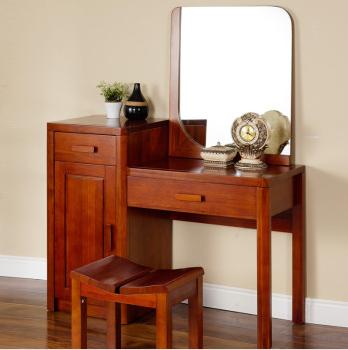 宜华家居现代简约卧室家具 实木梳妆台梳妆镜实木梳妆 H013