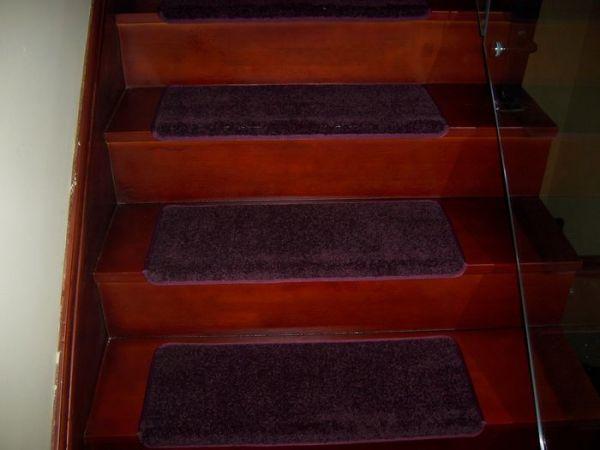 饰佳楼梯紫色地毯