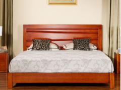 宜华家居 纯实木床 1.8米实木双人床 现代简约卧室家具