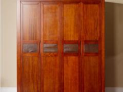宜华家居 纯实木衣柜 大衣柜实木 现代简约卧室家具新中式家具