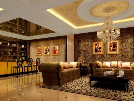 现代简欧电视背景墙效果图-搜房网装修效果图图片