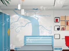兰舍硅藻泥-除甲醛环保壁材-树系列78