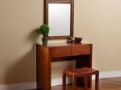 宜华家居 现代简约 实木梳妆台梳妆镜实木梳妆凳 J021