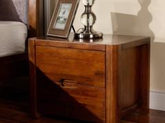 宜华家居 纯实木床头柜 双抽屉现代简约卧室家具 J032