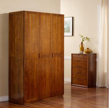 宜华家居 纯实木衣柜现代简约新中式家具 J031三门衣柜