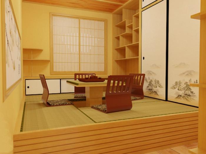 日韩风格-91平米二居室-装修样板间
