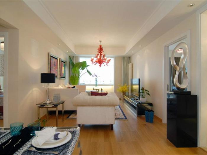 现代简约-86.11平米一居室-装修样板间