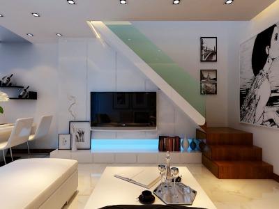 现代简约-93平米一居室装修样板间