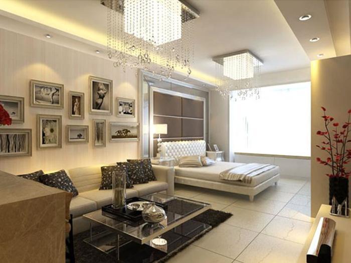 现代简约-35平米一居室-装修样板间