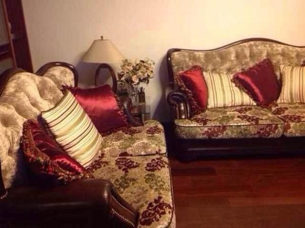 987布艺印花沙发