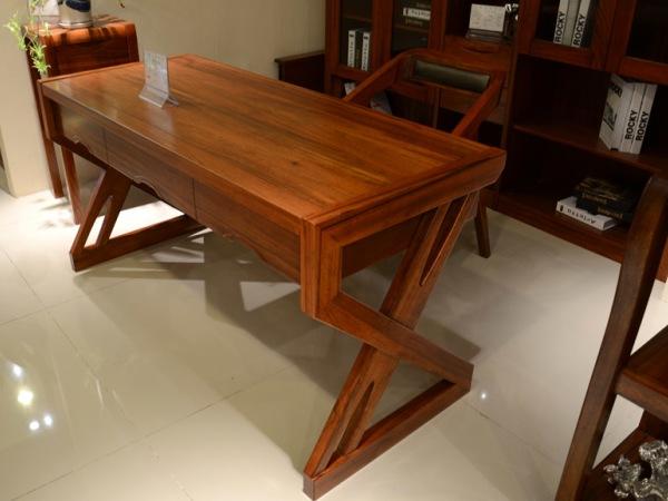 筑家家居 胡桃木全实木家具 G-6703电脑台 电脑桌 书桌