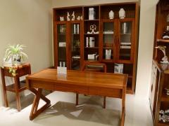 筑家家居 胡桃木全实木家具 G-6601五门书柜 书柜